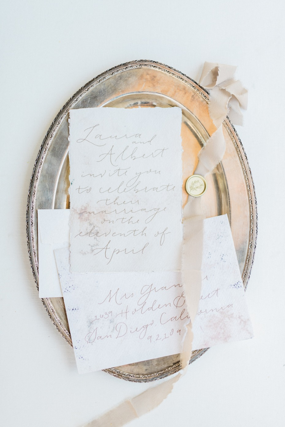 handwritten watercolor wedding invitations