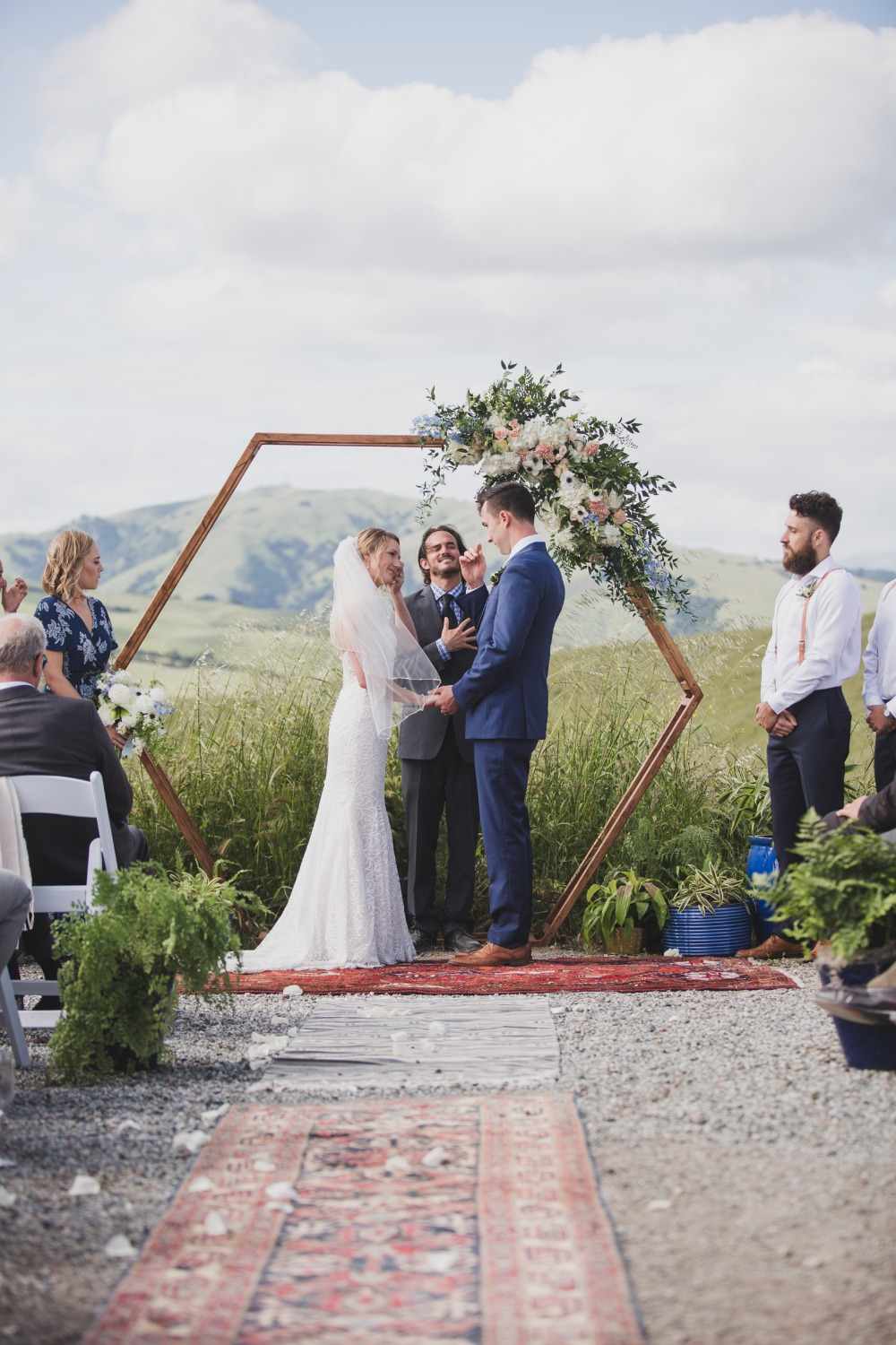 hexagon wedding arch backdrop