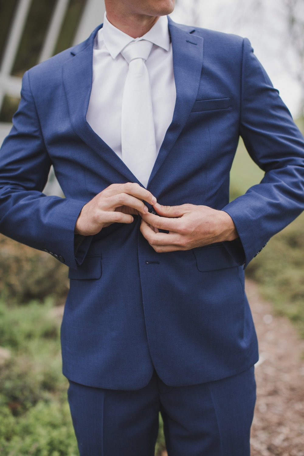 white and navy Groom outfit idea