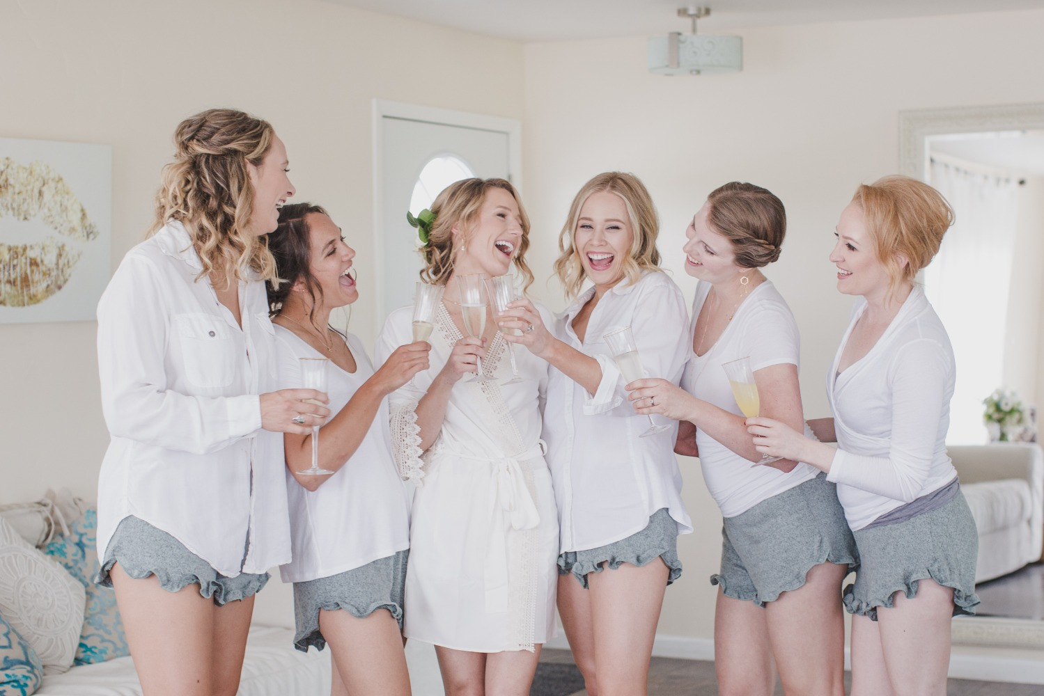 getting ready bridesmaid outfits