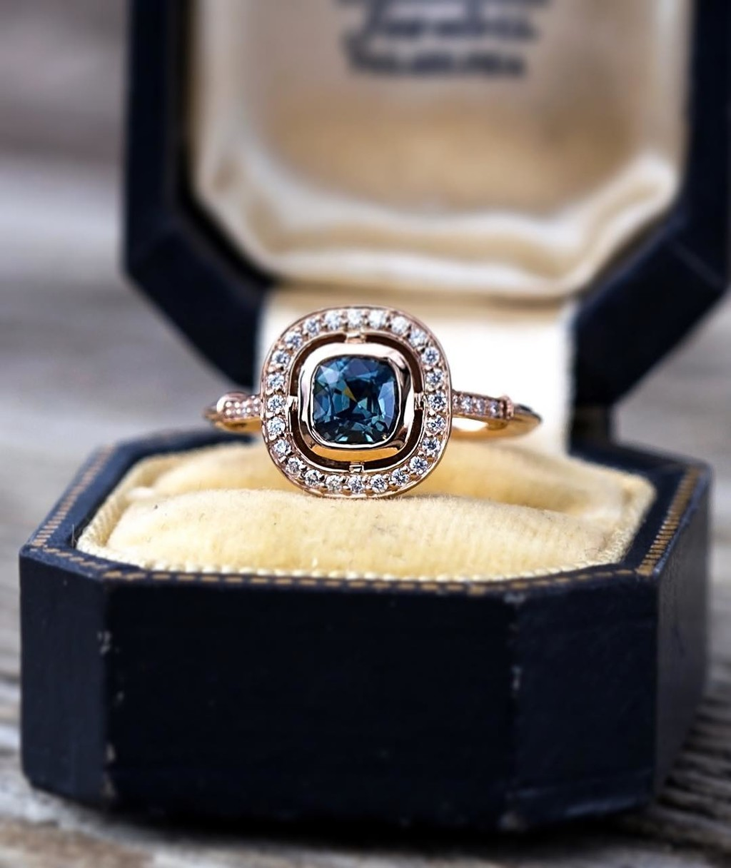 ✨👀💫Exciting things are happening around here! Sneak peak of one of Jacob's freshly crafted one-of-a-kind sapphire rings!