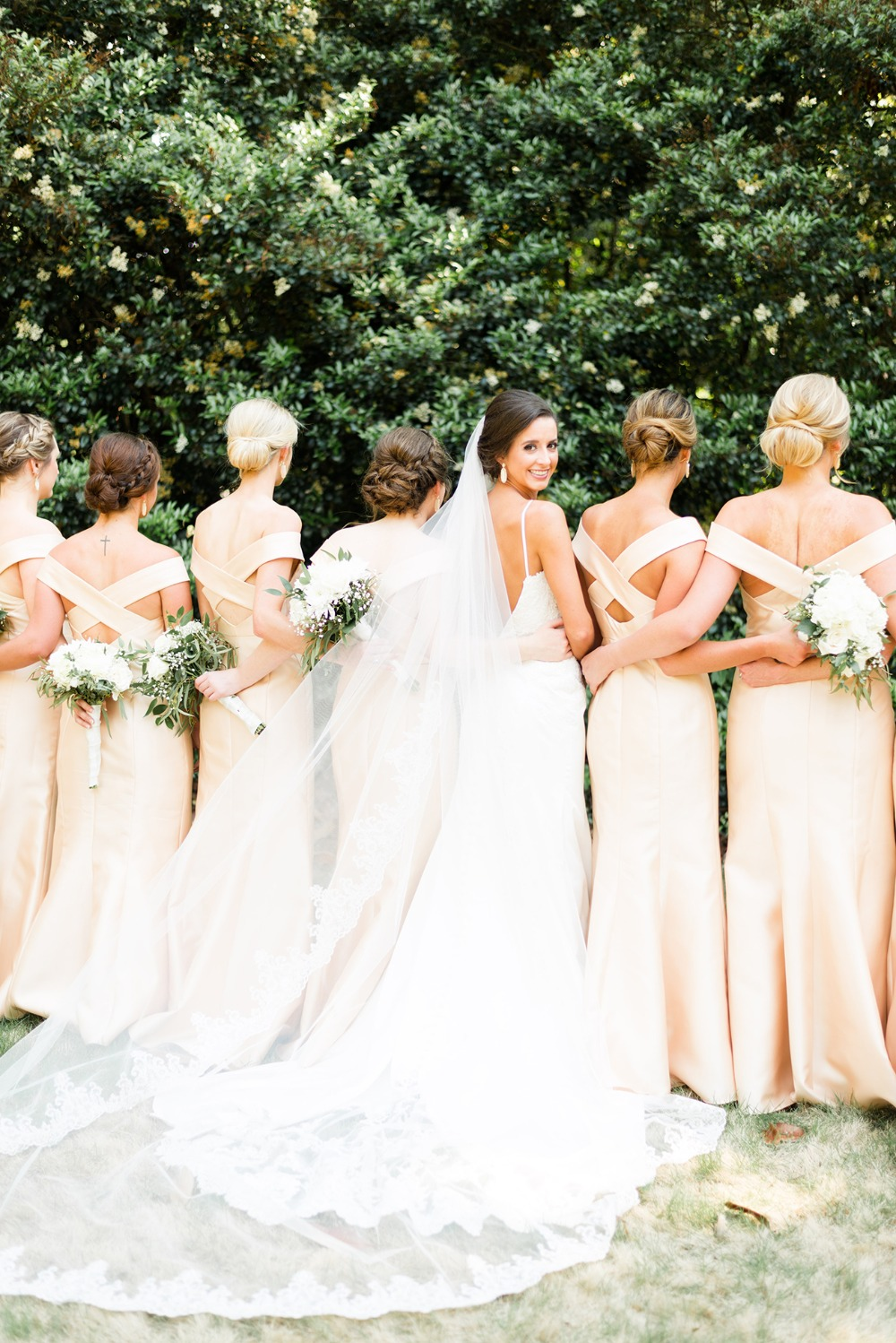 elegant gold bridesmaid dresses