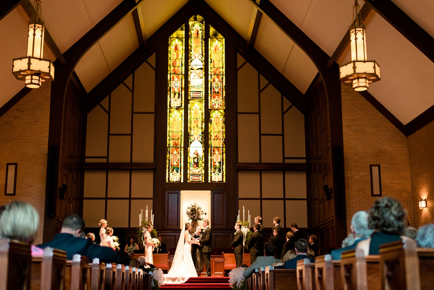classic church wedding ceremony
