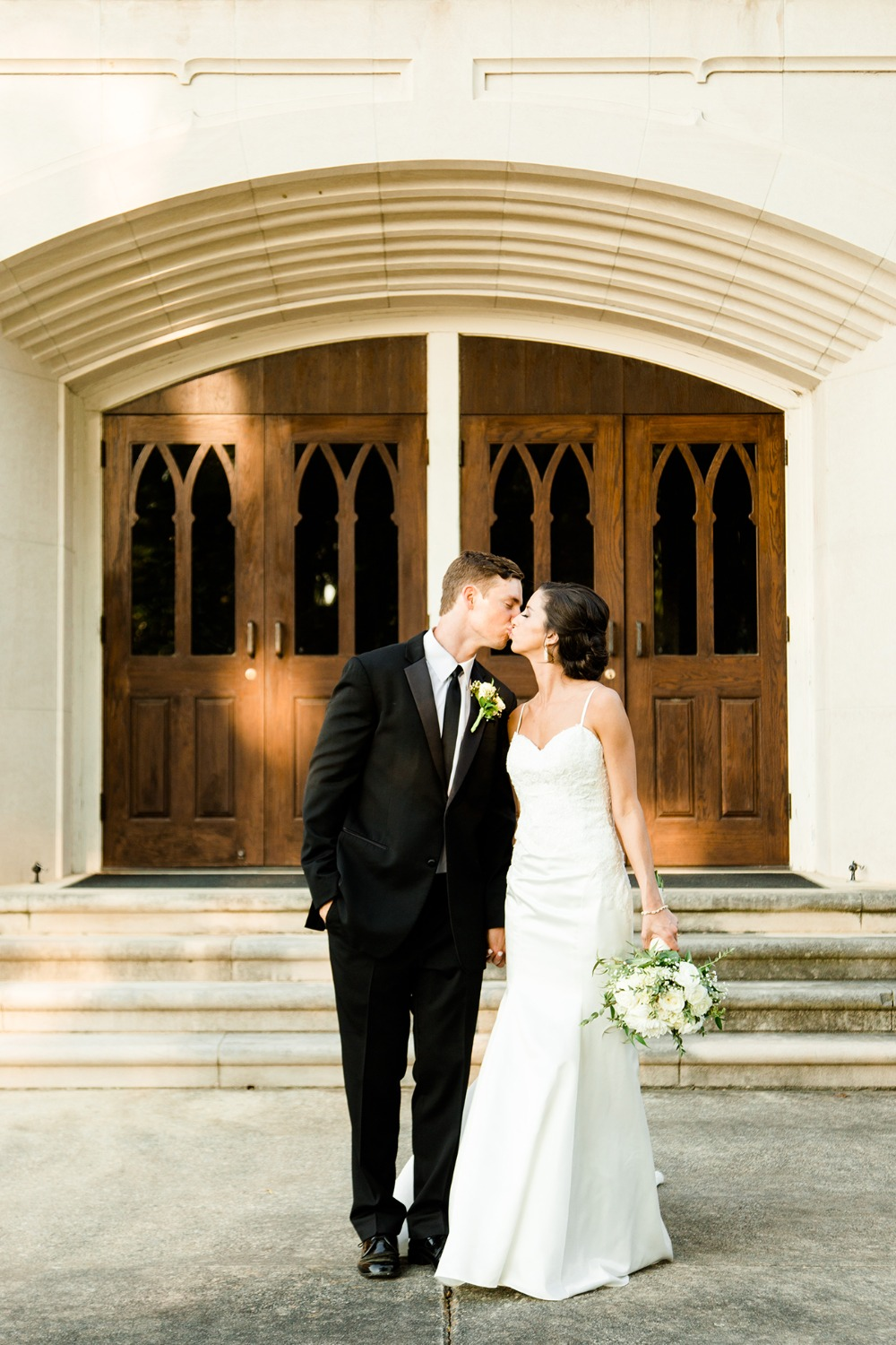 sweet wedding kiss photo