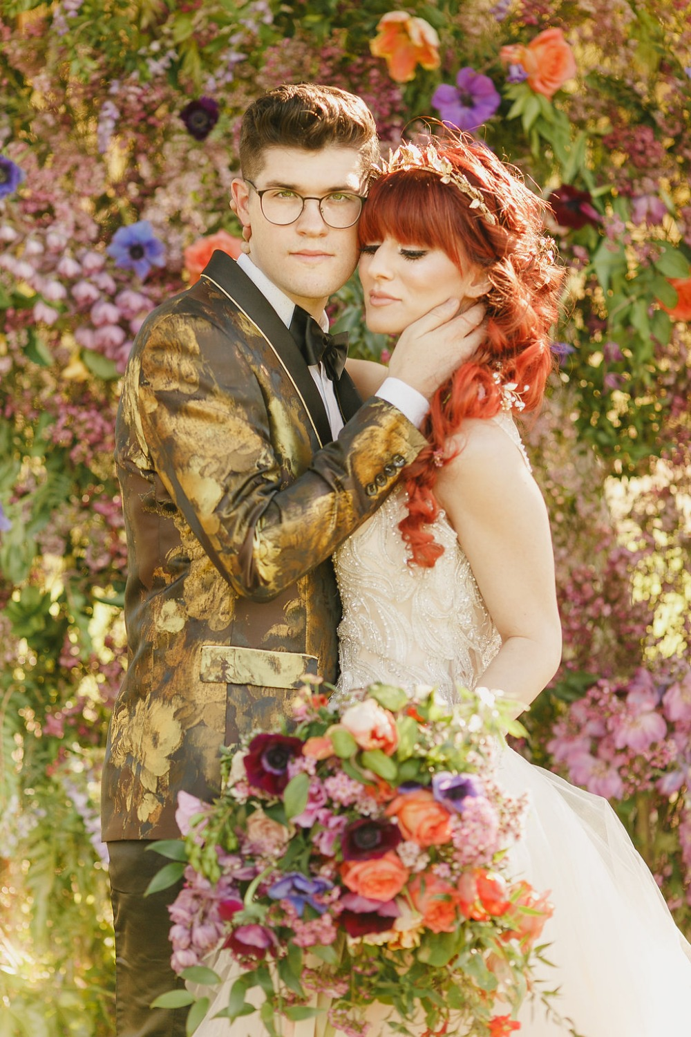 Floral Fairytale Shoot at Heavenly Oaks Flower Farm