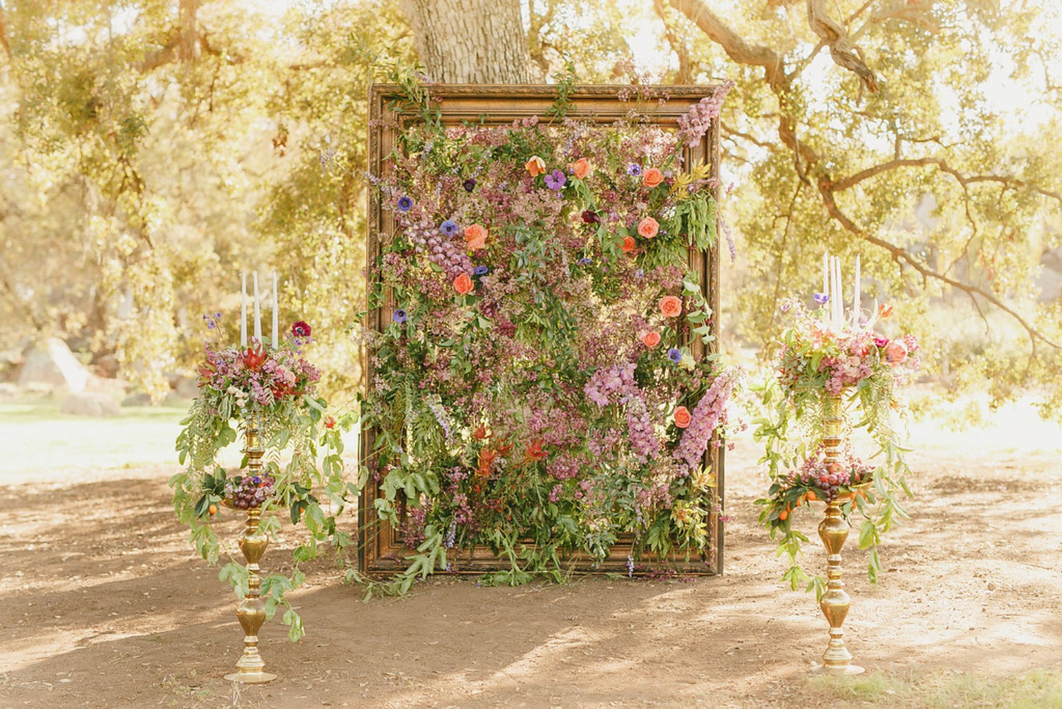 Floral Fairytale Shoot at Heavenly Oaks Flower Farm Flower Painting