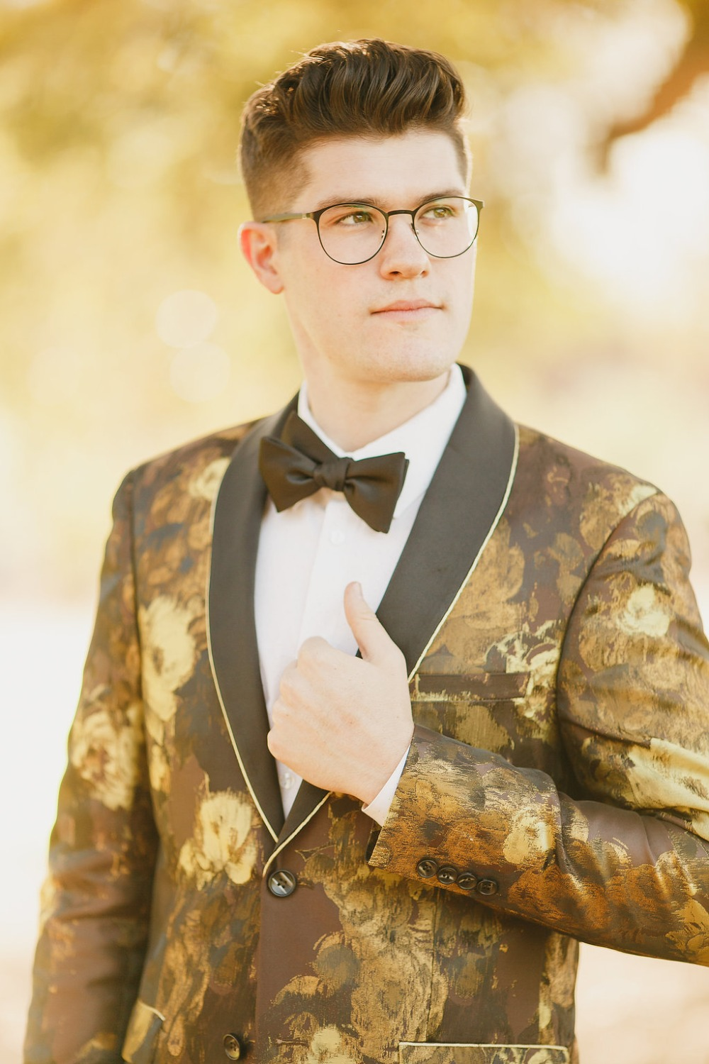 Floral Fairytale Shoot at Heavenly Oaks Flower Farm Groom Smiling