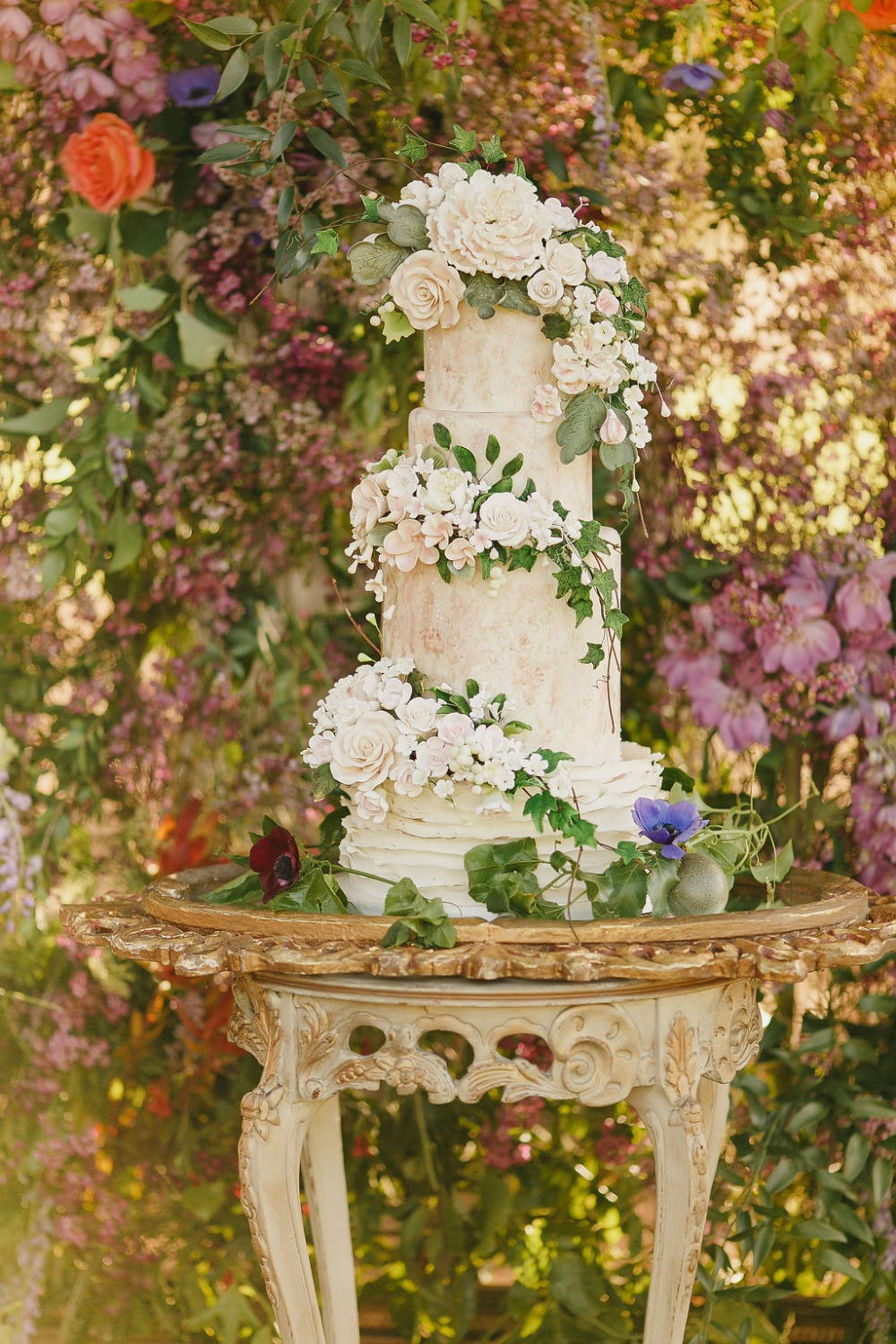 Floral Fairytale Shoot at Heavenly Oaks Flower Farm Wedding Cake
