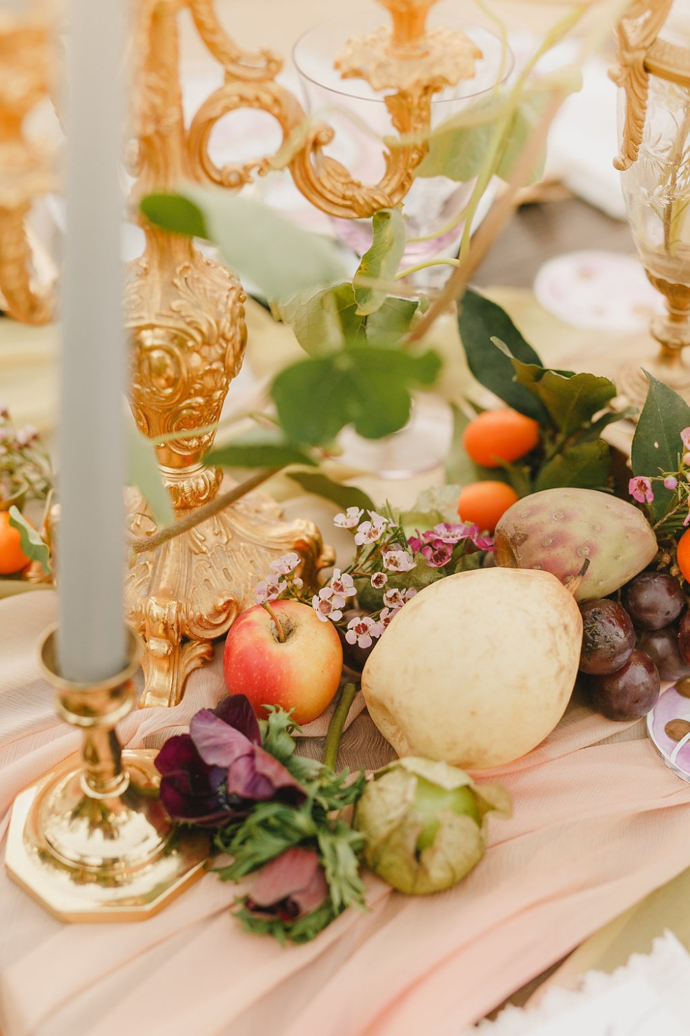 Floral Fairytale Shoot at Heavenly Oaks Flower Farm Fresh Table Fruits