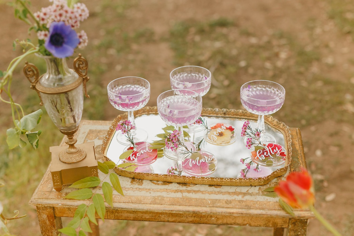 Floral Fairytale Shoot at Heavenly Oaks Flower Farm Signature Drinks