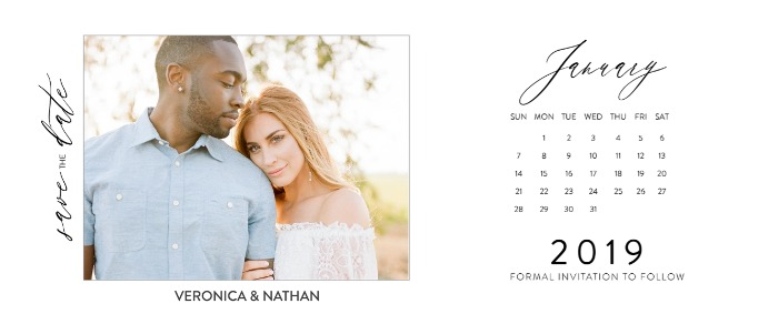Print: 2019 Free Printable Photo Calendar Save The Dates