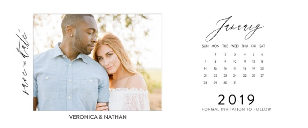 2019 Free Printable Photo Calendar Save The Dates