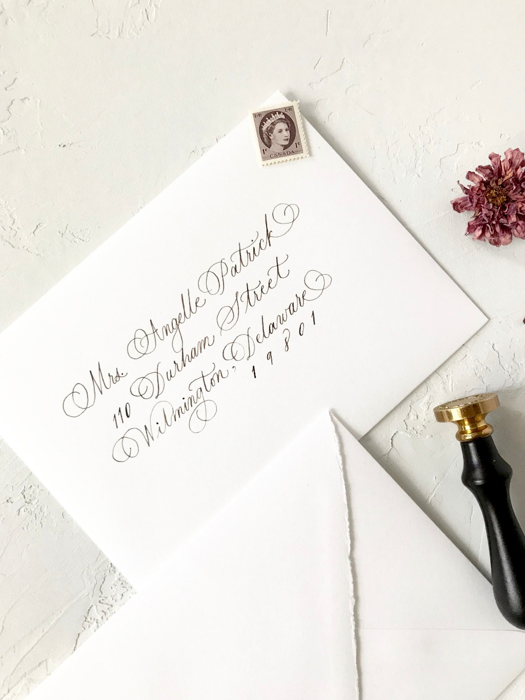 I would love to work with you on your Wedding. Add a personal and unique touch to your big day incorporating handwritten calligraphy