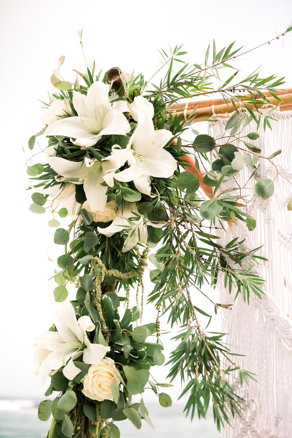 Cayman Island Beach Wedding - Floral Chuppah