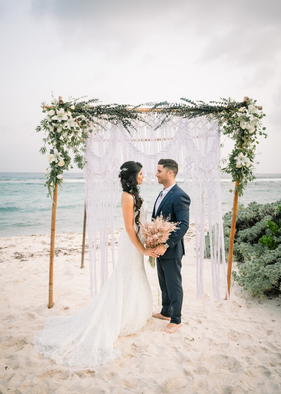 Cayman Island Beach Wedding Bride and Groom