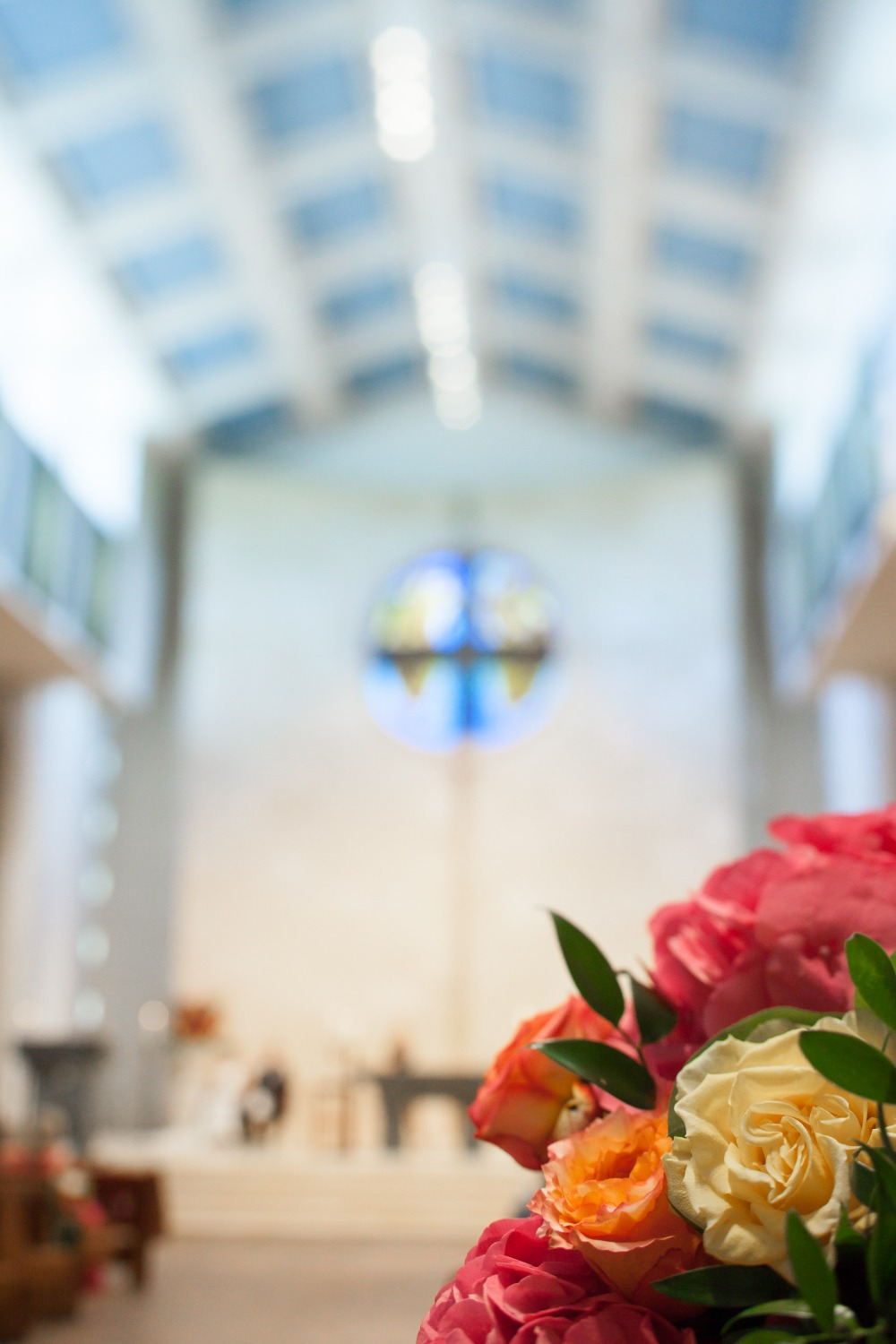 classic wedding ceremony in a church