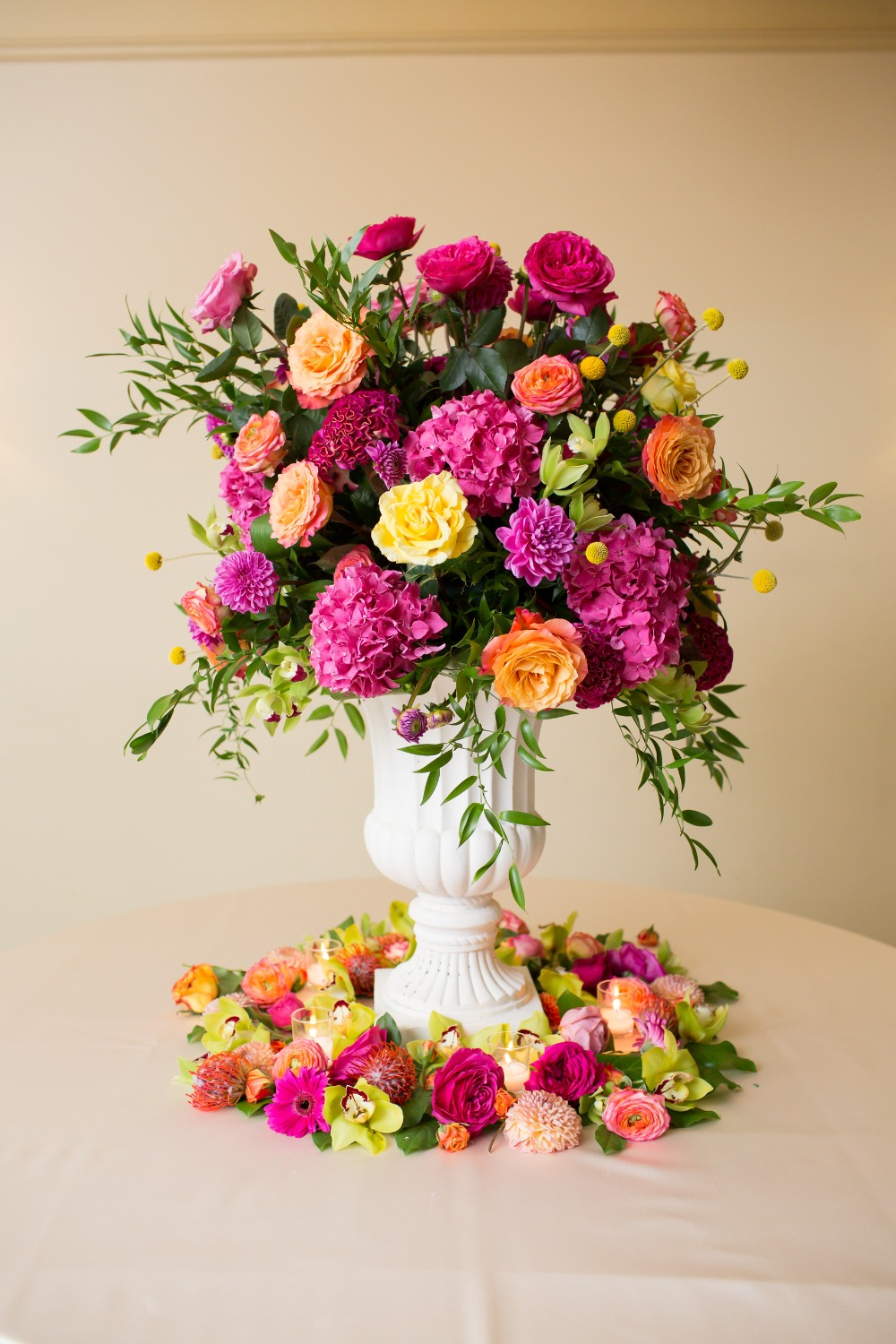 bright summer floral decor