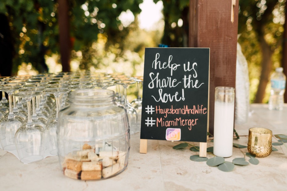 instagram hashtag wedding sign