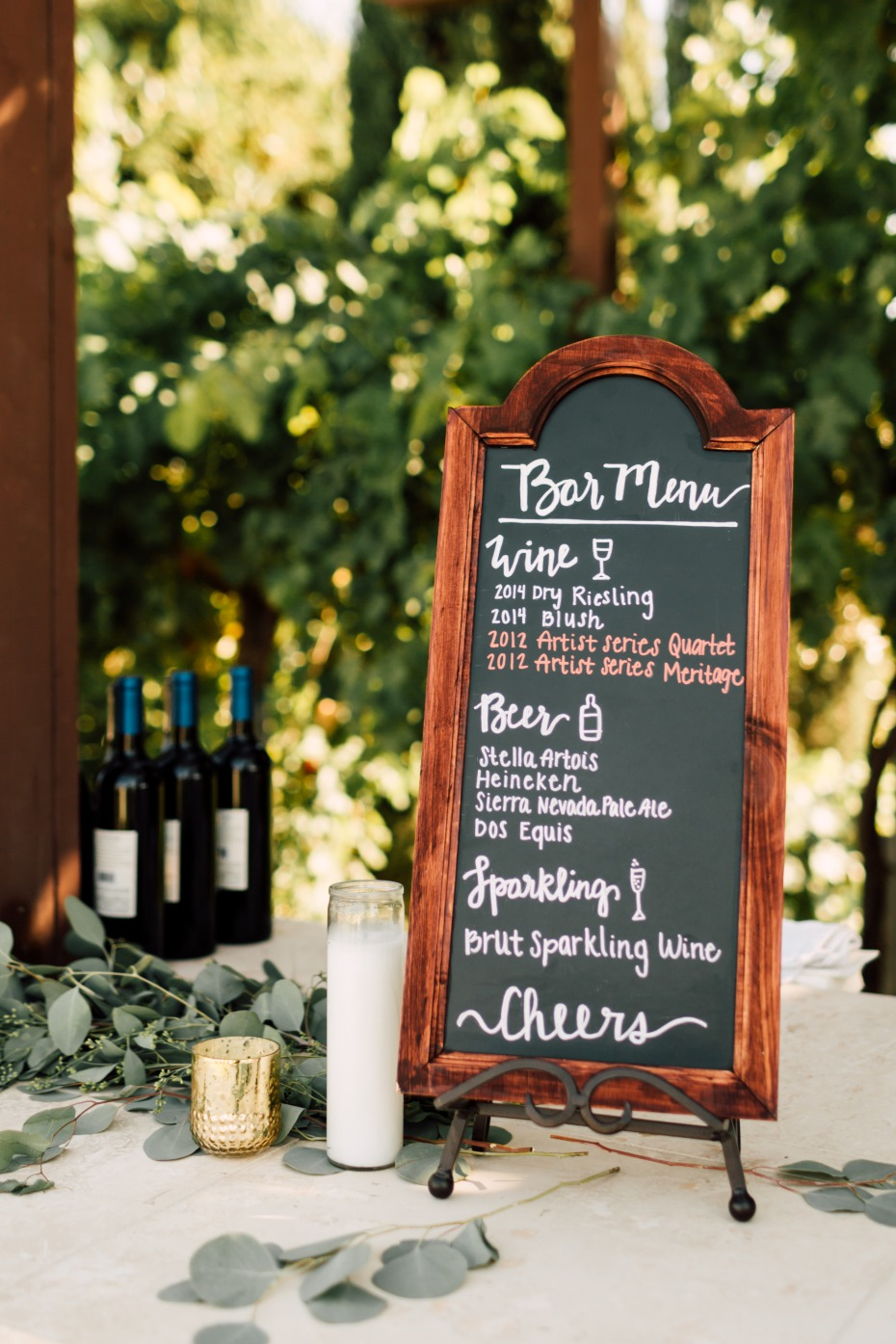 bar menu ideas for wedding