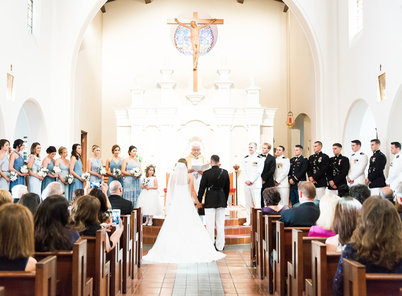 classic cathedral wedding