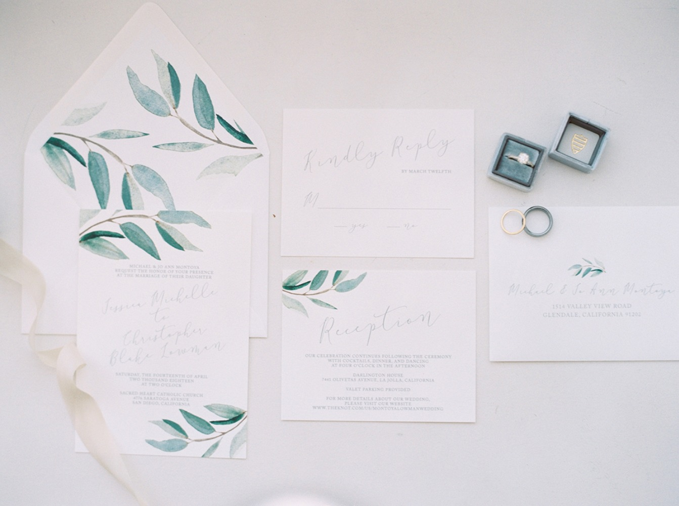 soft and simple wedding invitations