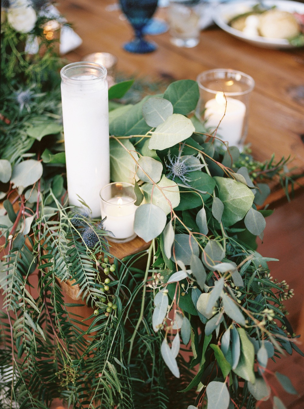 organic garland table decor