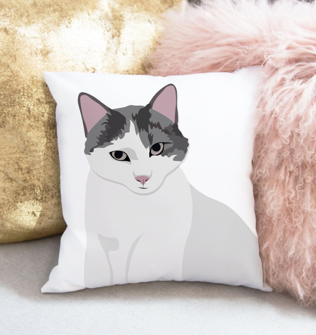 Our Personalized Pet Portrait Pillows are the BEST gift for the pet lover in your life!! This pillow is 16 x16 and is available with