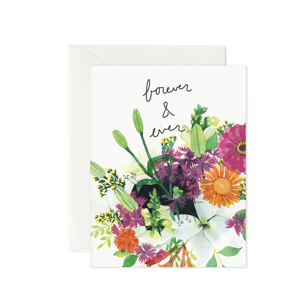 Handmade cards! This brilliant bouquet of summer blossoms has been illustrated using watercolor. It is the perfect pop of color to