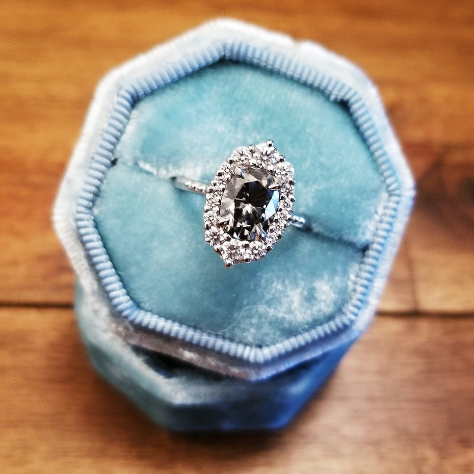 Big Engagement Ring from Kristin Coffin Jewelry