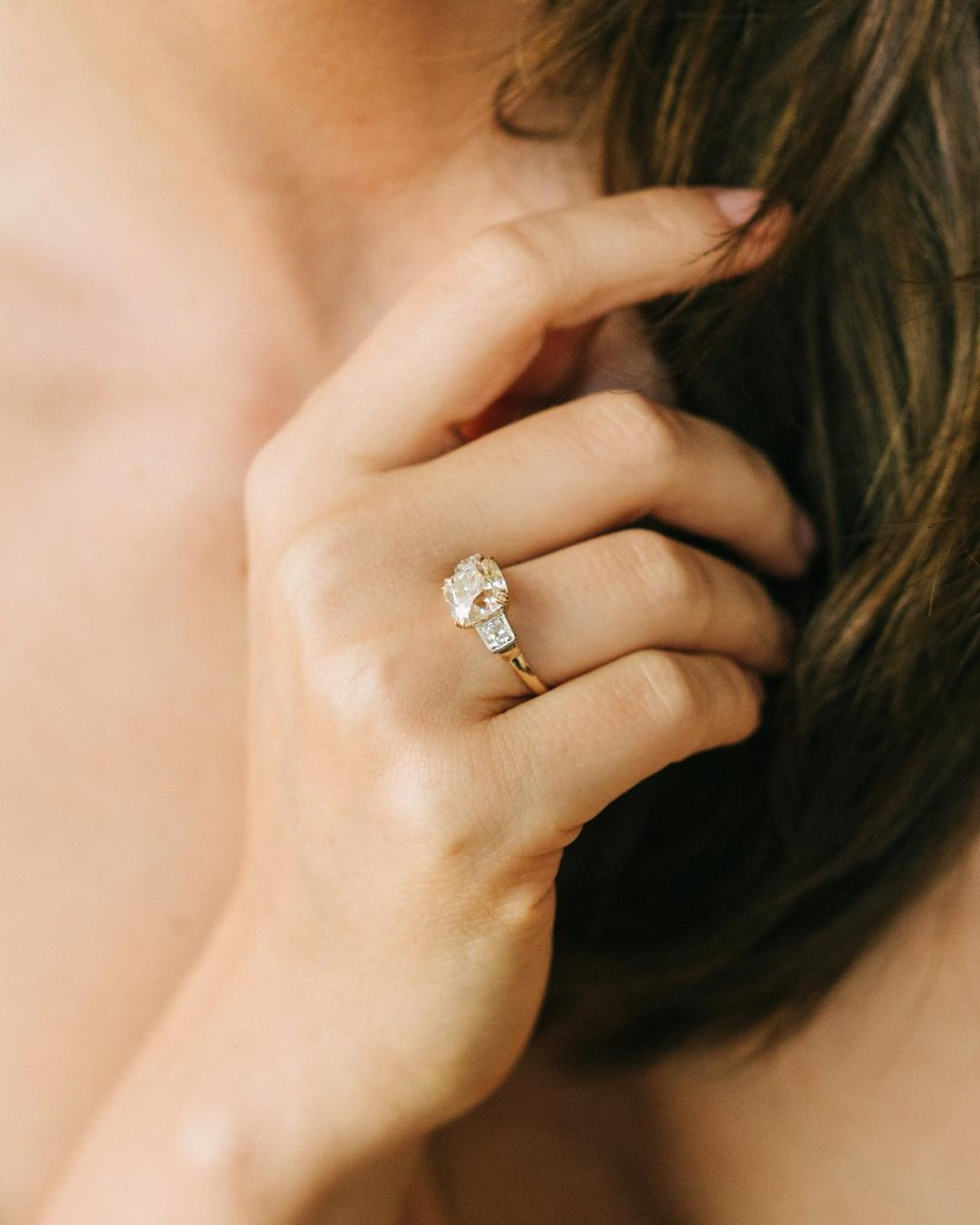 Big Engagement Ring from Victor Barbone Jewelry