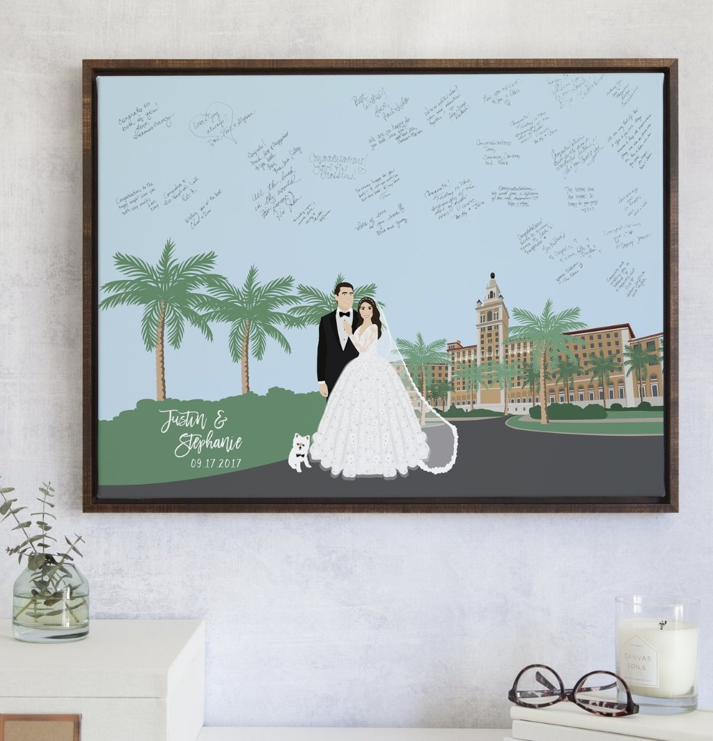 Wedding venues can be the best part about planning and envisioning your big day!! Now imagine your beautiful venue on your guest book