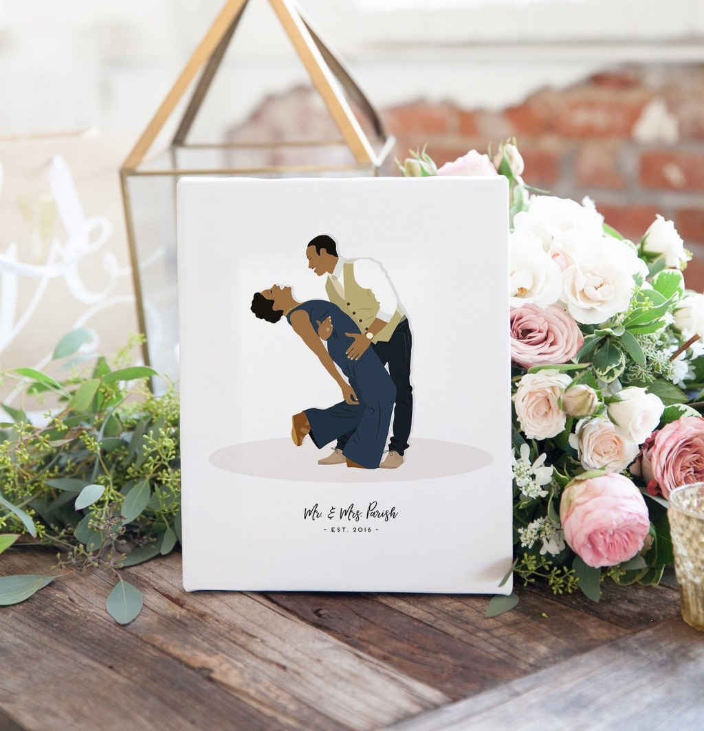 While we're all about wedding pieces here at Miss Design Berry, we also LOVE anniversary gifts too! This amazing Couple Portrait Illustration