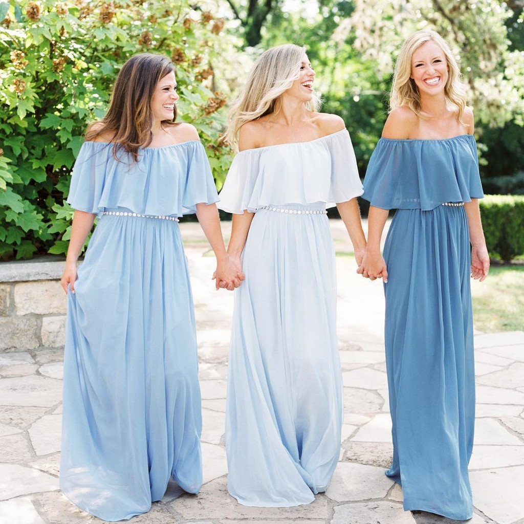 Soft chiffon, beautiful blues, and a seriously happily ever after.💙
