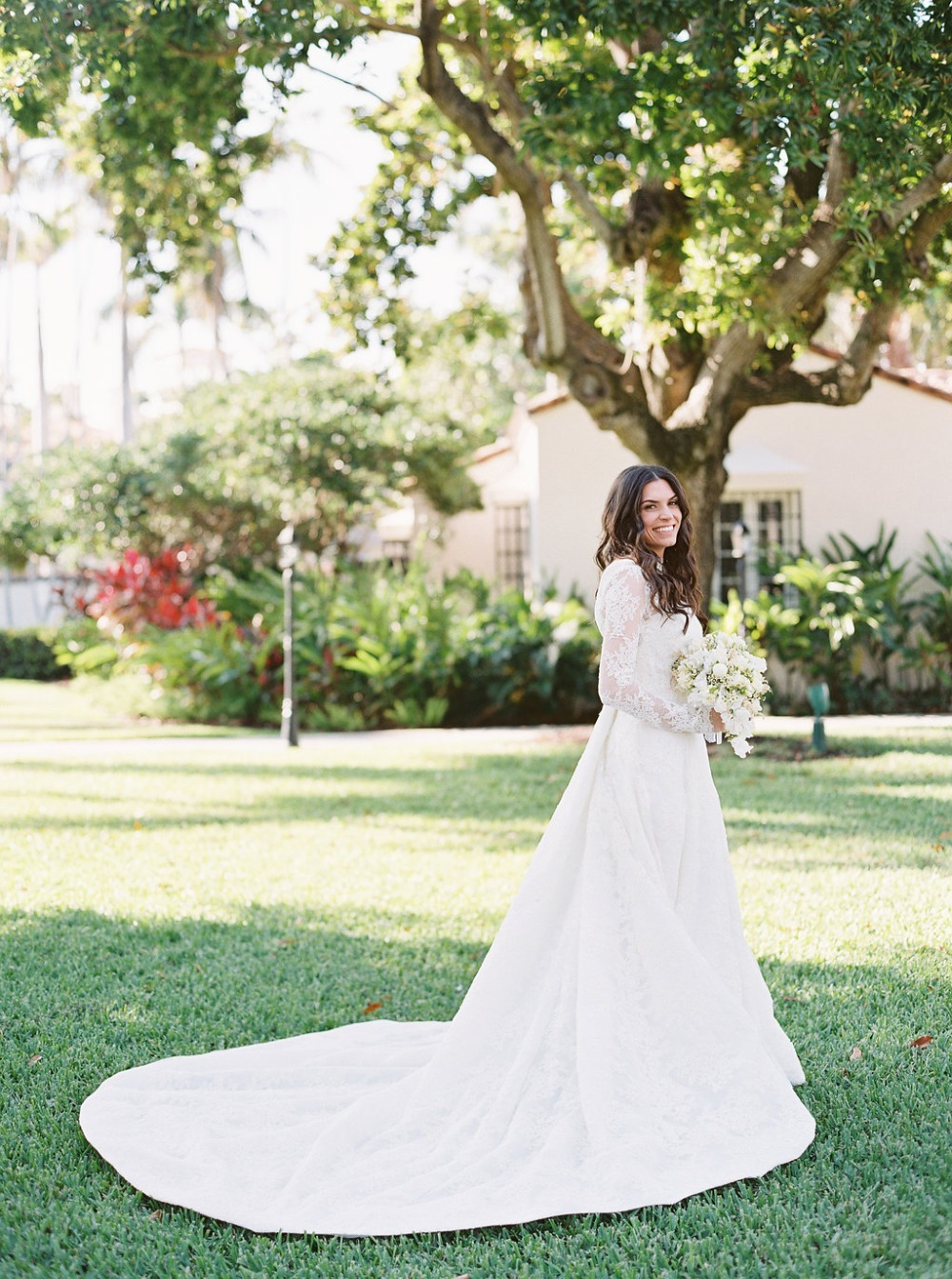 glamorous and classic bridal style
