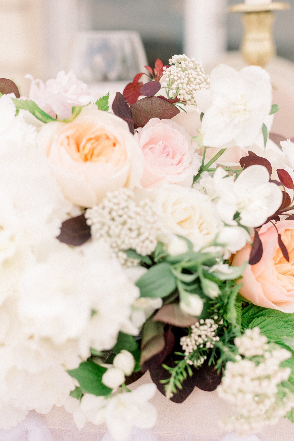 vintage wedding floral decor