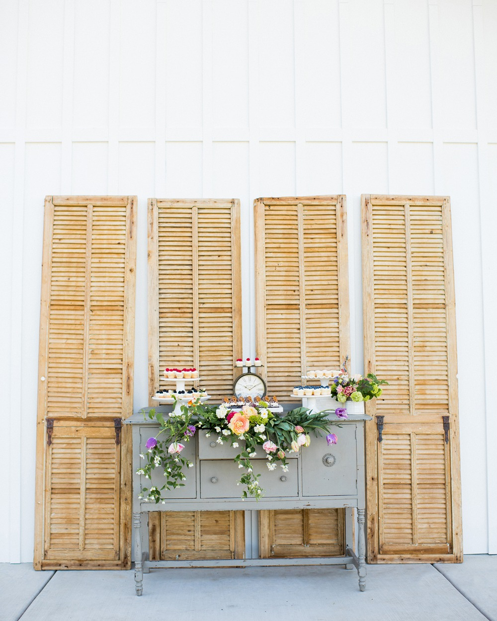 vintage dresser for your wedding dessert table
