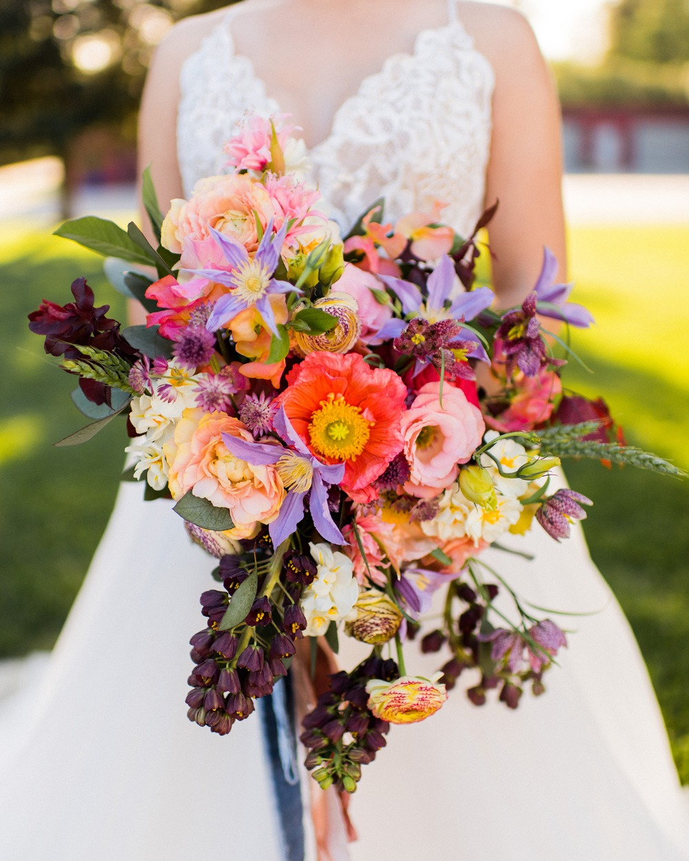 bright and exciting wedding bouquet