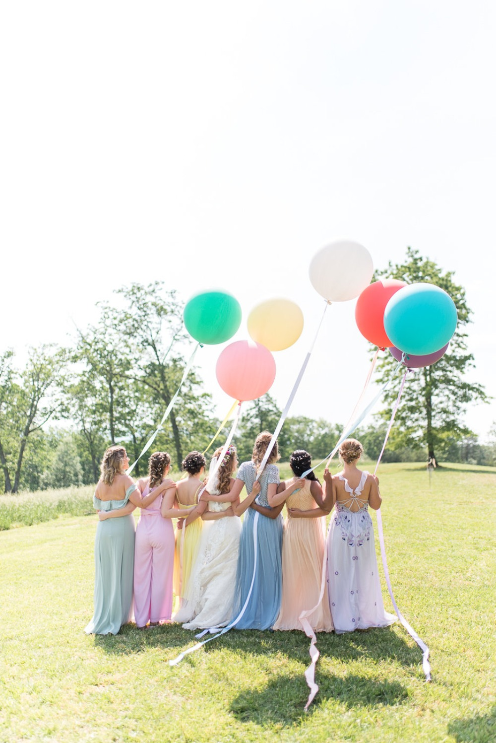 wedding balloons for the bridal party