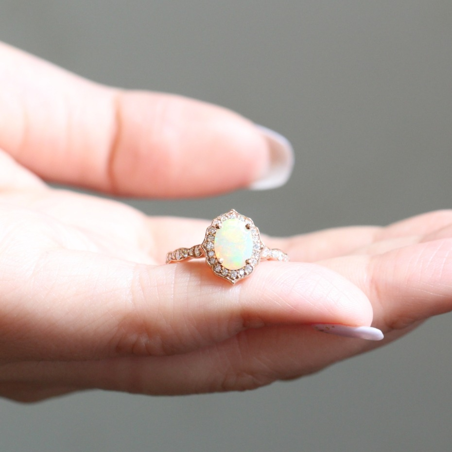 La More Design Opal Engagement Ring