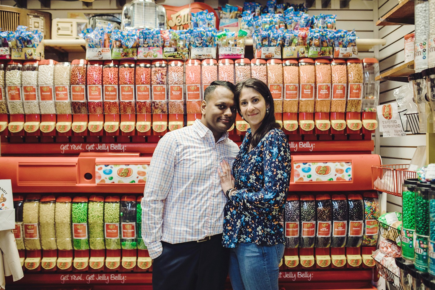 Economy Candy store engagement shoot
