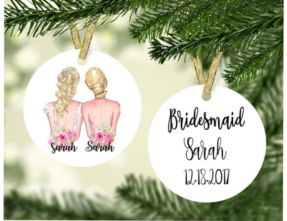 Etsy Personalized Bridesmaid Ornament