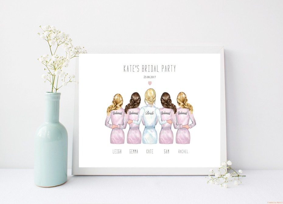 Etsy Bridal Party Print