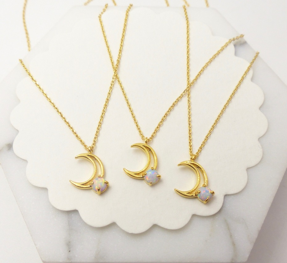 Etsy Crescent Moon Pendant Necklace