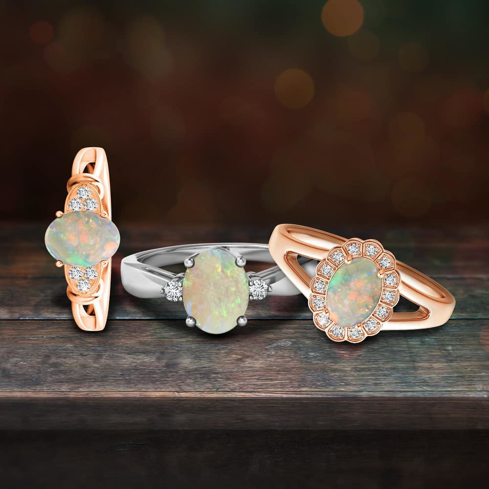 They're so chic, you wouldn't want to take them off. Explore opal rings.