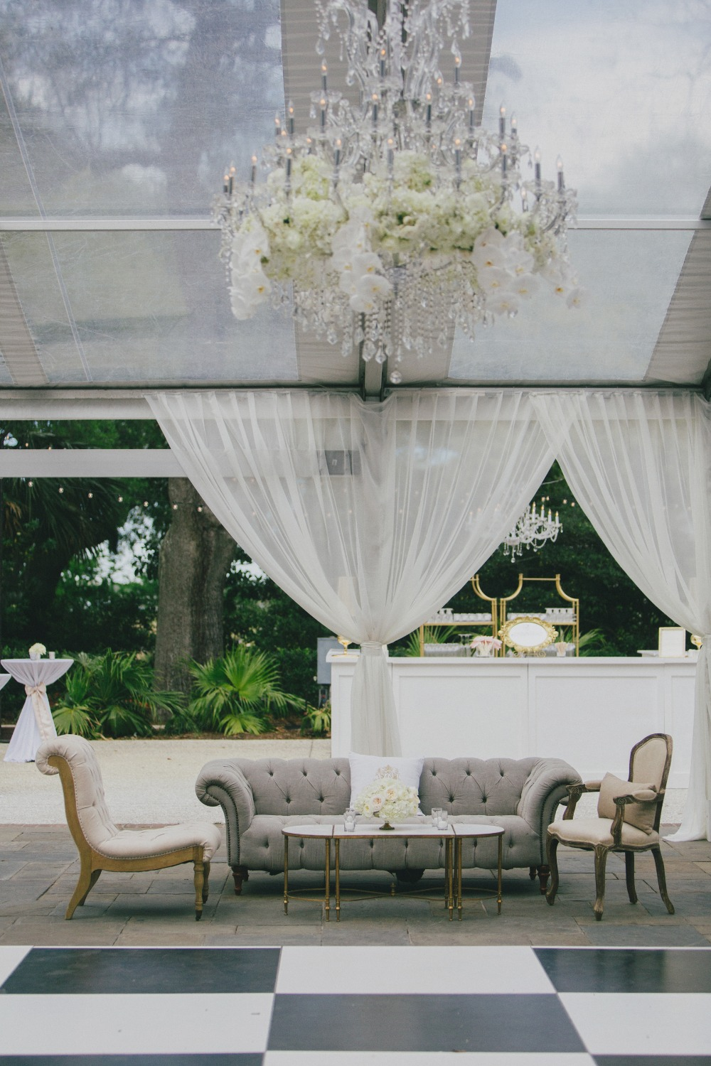 formal southern style glam wedding lounge