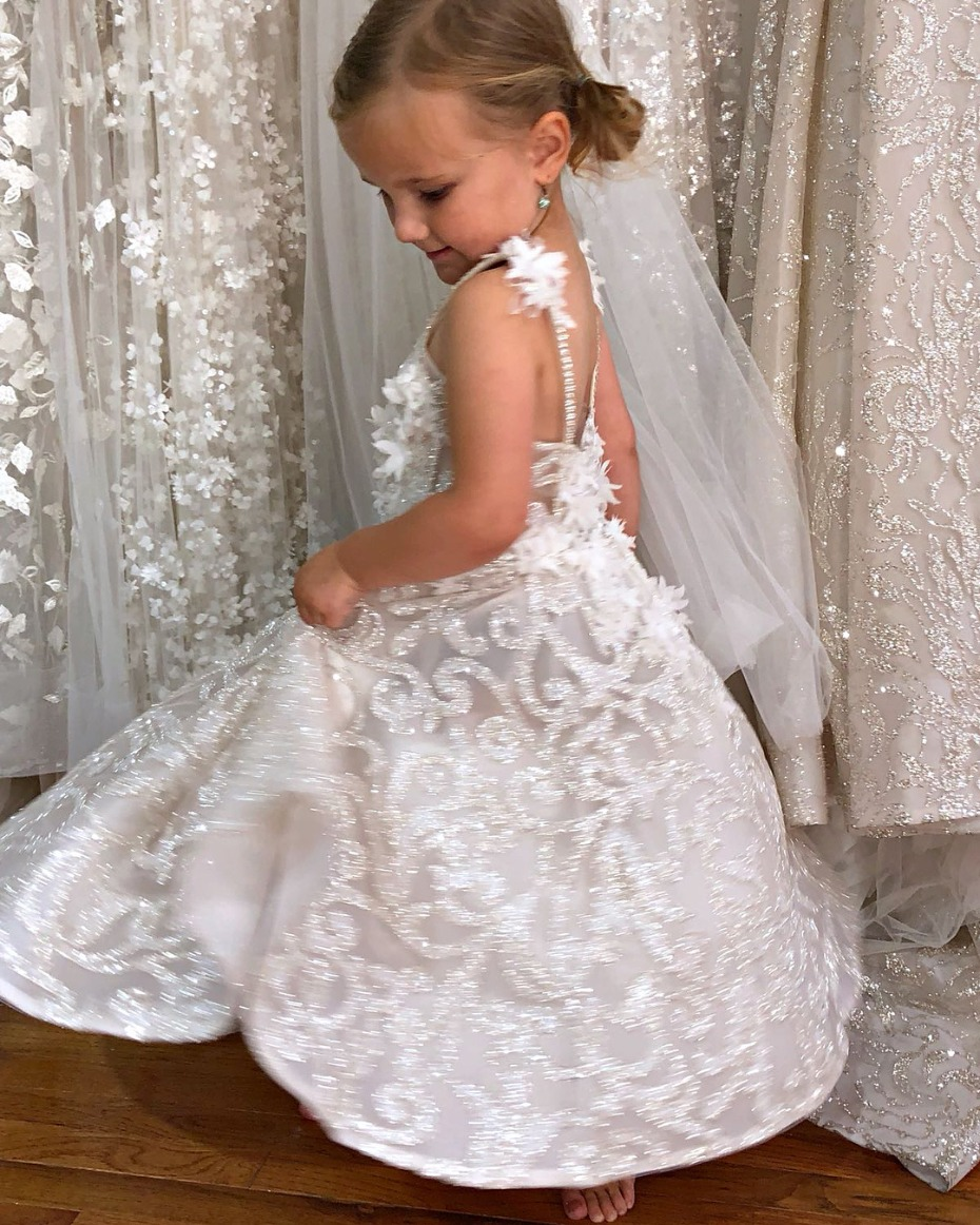 Berta Bridal Berta Baby Flower Girl Dress Showroom Fitting