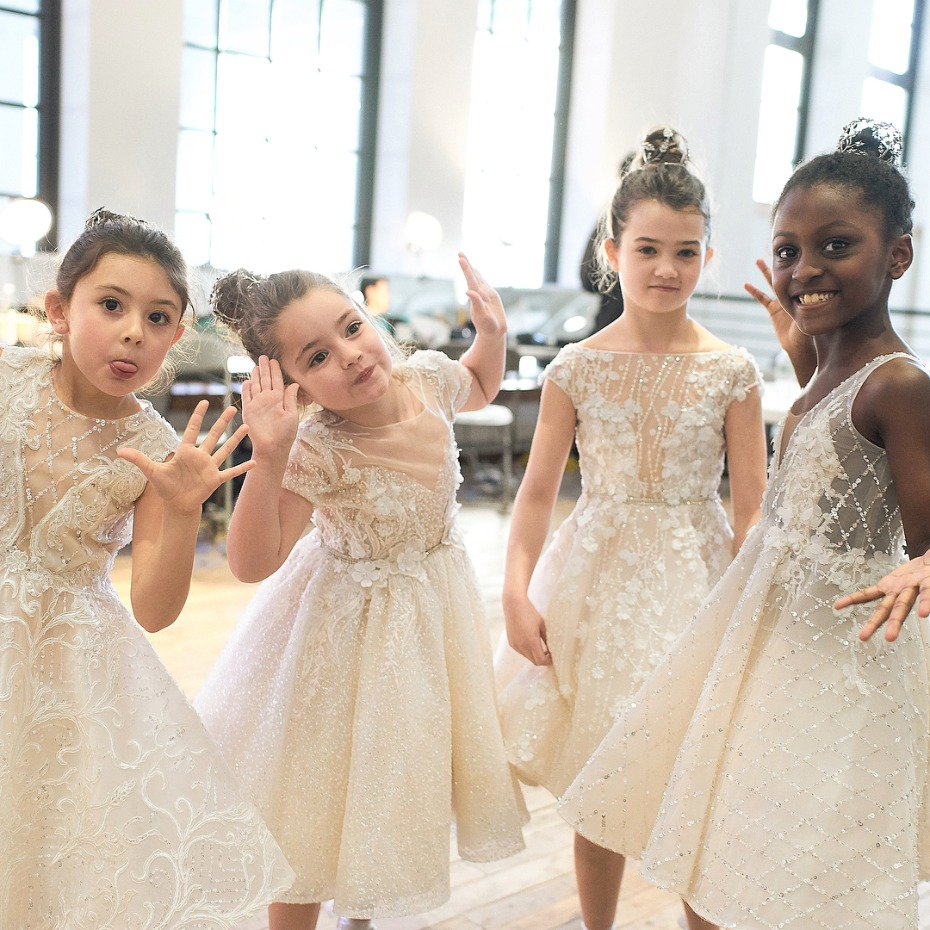 Berta Bridal Berta Baby Flower Girl Dress Collection Model Squad