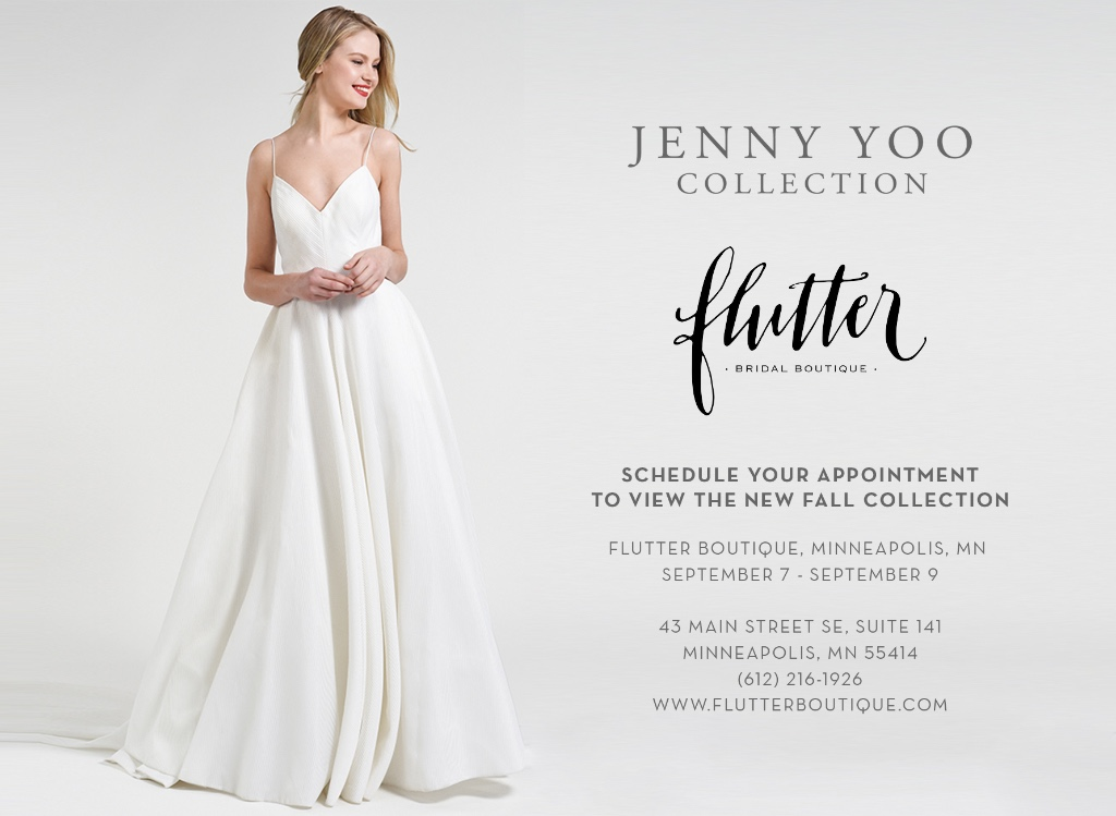 Jenny Yoo Collection Trunk Show at Flutter Boutique