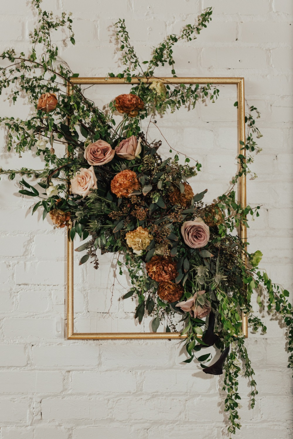 framed floral decor