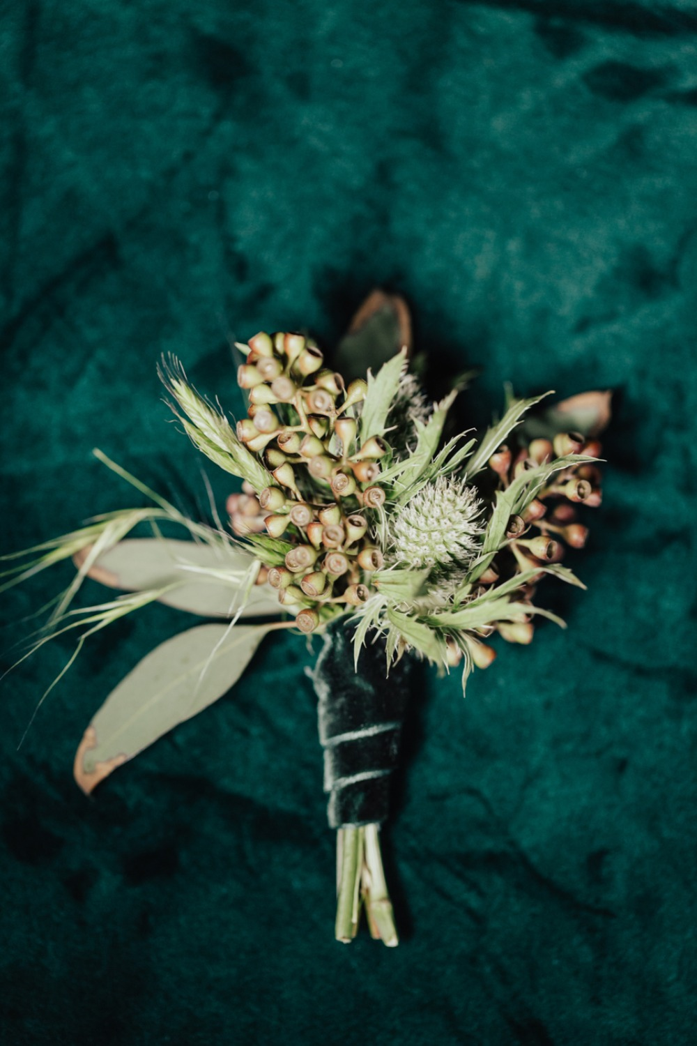 romantic vintage wedding boutonniere
